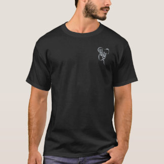 Comedy Tragedy Grey Theater Mask Mens Black T T-Shirt