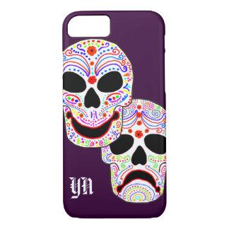 Comedy-Tragedy Halloween DOTD Skulls monogram iPhone 7 Case