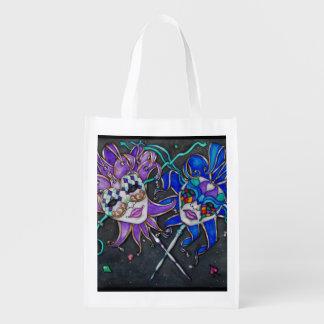 Comedy/Tragedy Jester Masks Grocery Bag