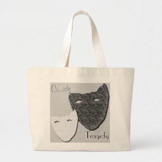 Comedy / Tragedy - Jumbo Tote Bags