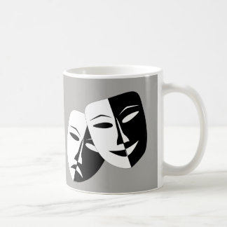 Comedy Tragedy Mask -- coffee mug