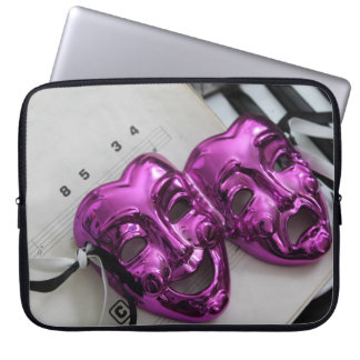 Comedy Tragedy Mask Computer Sleeve