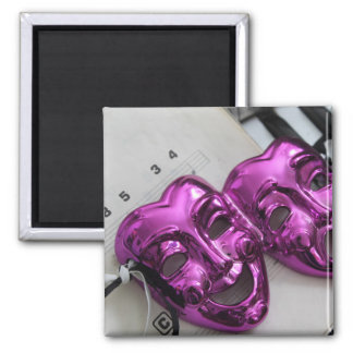 Comedy Tragedy Mask Magnet