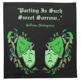 Comedy & Tragedy Mask Shakespeare Cocktail Napkins