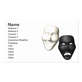 Comedy Tragedy Masks Business Cards