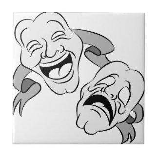 Comedy Tragedy Masks Ceramic Tile