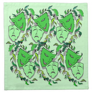 Comedy & Tragedy Masks Pattern Cocktail Napkins