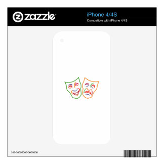Comedy Tragedy Masks iPhone 4S Skins