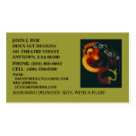 COMEDY & TRAGEDY MASKS THEATER ARTS BUSINESS CARD
