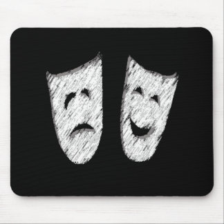 Comedy Tragedy Mouse Pad