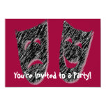 Comedy Tragedy Personalized Invitations