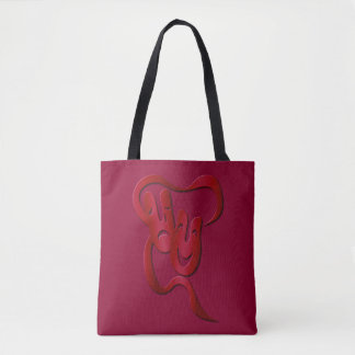 Comedy Tragedy Red Theatre Mask Tote Bag