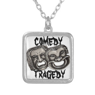 Comedy/tragedy Silver Plated Necklace