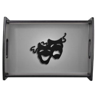 Comedy Tragedy Theater Masks Service Trays