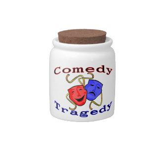 Comedy Tragedy Theatre Masks Candy Jar