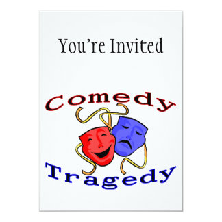 Comedy Tragedy Theatre Masks Card