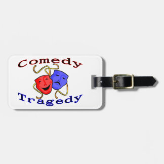 Comedy Tragedy Theatre Masks Luggage Tag