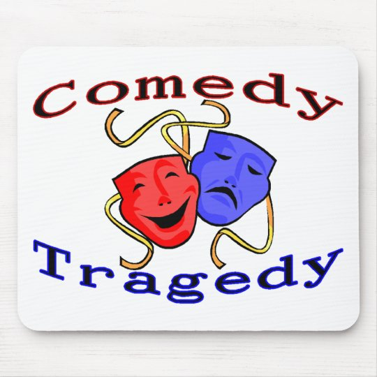Comedy Tragedy Theatre Masks Mouse Pad