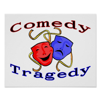 Comedy Tragedy Theatre Masks Poster