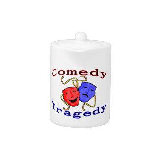 Comedy Tragedy Theatre Masks Teapot