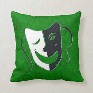 Comedy/Tragedy Throw Pillow