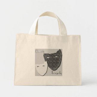 Comedy / Tragedy - Tiny Tote Canvas Bags