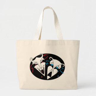Comedy Tragedy - Vampire Victim Large Tote Bag