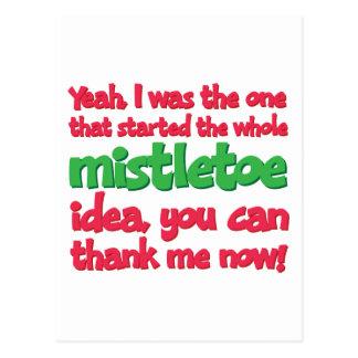 Comencé el navidad divertido de la idea entera del tarjeta postal