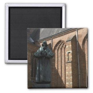 Comenius statue, Naarden 2 Inch Square Magnet