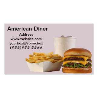 Comensal americano del estilo tarjetas de visita