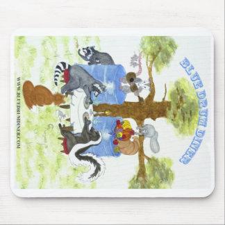 Comensal azul Mousepad del tambor Alfombrilla De Ratones