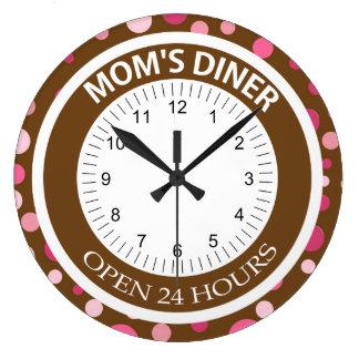Comensal de Brown y de la mamá de los puntos del r Reloj Redondo Grande