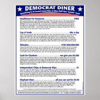 Comensal de Demócrata Póster