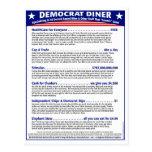Comensal de Demócrata Tarjetas Postales