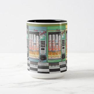 Comensal del vintage de la máquina expendedora taza de café de dos colores