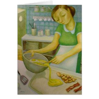 Comensal - huevos y tocino - por Lora Shelley Tarjeta De Felicitación
