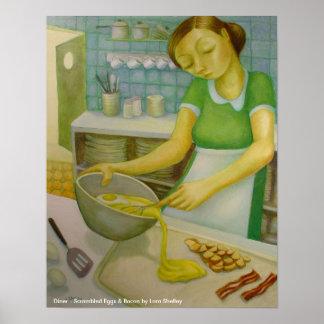 Comensal - SCR. huevos y tocino - Lora Shelley Posters