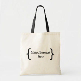 Comentario ingenioso bolsas de mano