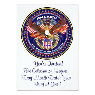 Comentarios patrióticos o del veterano de la invitación 12,7 x 17,8 cm