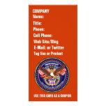 Comentarios patrióticos o del veterano de la opini tarjeta personal con foto