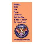 Comentarios patrióticos o del veterano de la opini tarjeta fotográfica personalizada