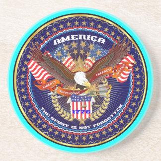 Comentarios patrióticos o del veterano de la posavasos diseño