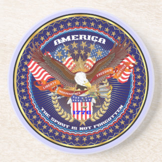 Comentarios patrióticos o del veterano de la posavasos personalizados