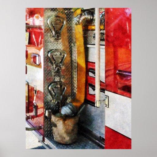 COMENZANDO DEBAJO de $20 - manguera de bomberos, c Póster