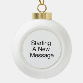 Comenzar un nuevo mensaje adornos