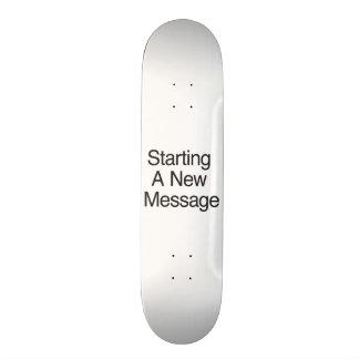 Comenzar un nuevo mensaje monopatín personalizado