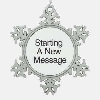Comenzar un nuevo Message.ai Adornos
