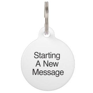 Comenzar un nuevo Message.ai Identificador Para Mascotas