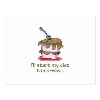 Comenzaré mi dieta mañana… tarjeta postal
