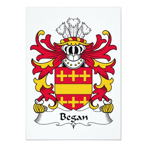 Comenzó el escudo de la familia invitación 12,7 x 17,8 cm